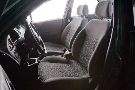 Car seats - grey textile