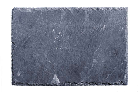 Rough textured slate board on white background