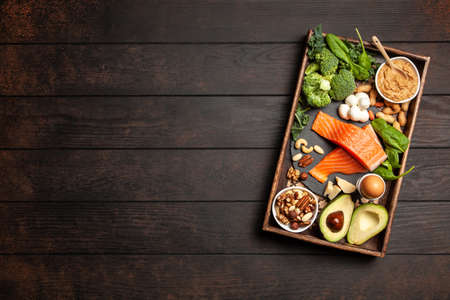 Photo pour Ketogenic diet concept - low carb healthy food - image libre de droit