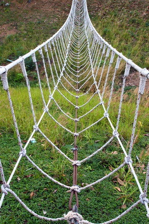 the white rope bridge
