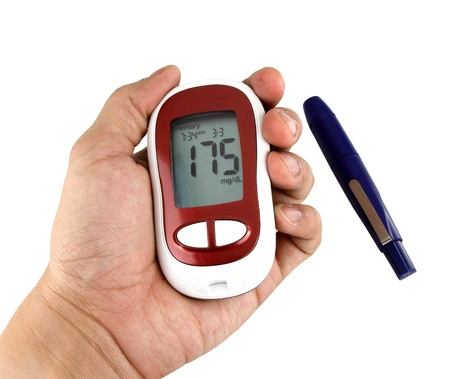 Glucometer showing a bad result in the display