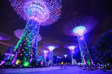 Singapore Aug 21 2017 Unidentified Tourist Visited Light Show