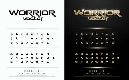 Illustration pour Exclusive gold Letters Typography regular font digital and sport concept. vector illustration - image libre de droit