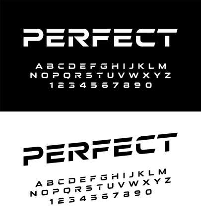 sport modern alphabet fonts and numbers. Typography font uppercase and number. vector illustrator