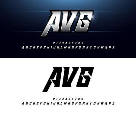 Illustration pour Alphabet silver metallic and effect designs. Elegant silver letters typography italic font. technology, sport, movie, and sci-fi concept. vector illustrator - image libre de droit