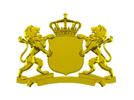 Gold lion crest banner