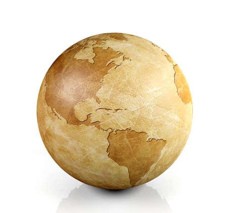 Foto de Vintage globe isolated, 3D render - Imagen libre de derechos