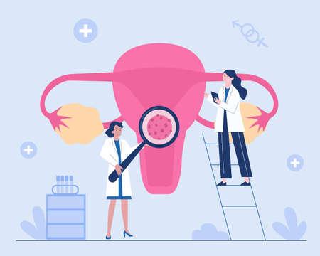 Illustration pour Human Papillomavirus or HPV diagnosis concept - image libre de droit