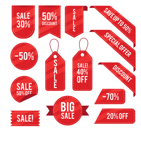 Ilustración de Sales,discounts,tags vector design collection - Imagen libre de derechos