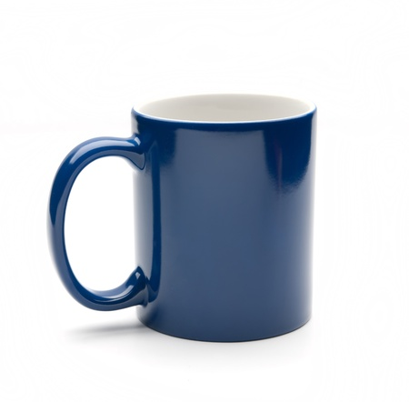 blue mug on a white background