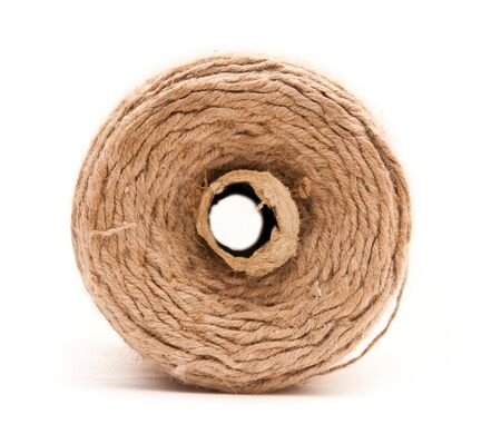 roll of twine on a white background