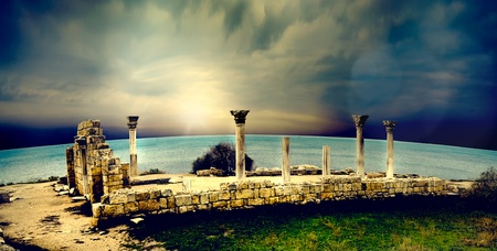 ancient Greek city of ruins