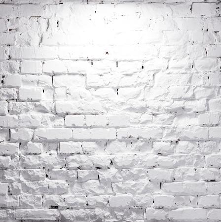 Photo for texture of illuminated brick whitewashed wall - Royalty Free Image