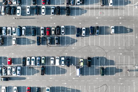 Photo for Cars on parking from above - Royalty Free Image