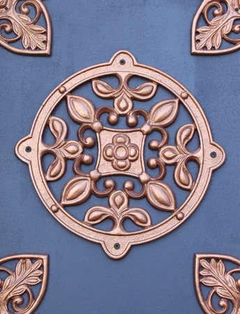 Pattern on old iron door