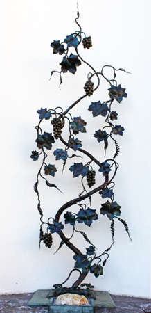 Forged vine in Odessa, Ukraine