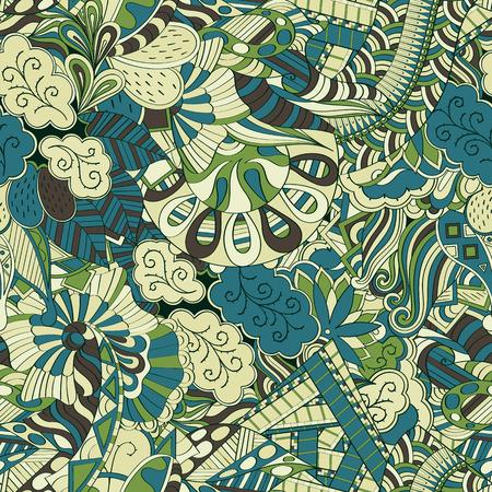 Mehendi calming pattern design. Neat even colorful harmonious doodle texture.