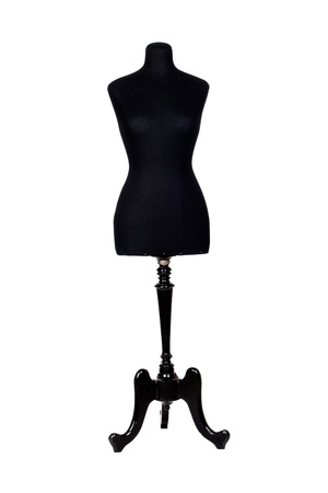 Photo of black mannequin isolated on a over white background