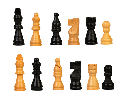 Foto de Chess figures isolated on a white background - Imagen libre de derechos