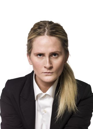 Portrait of an angry woman