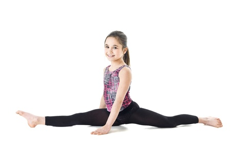 Young Gymnastic Girl isolated on white background