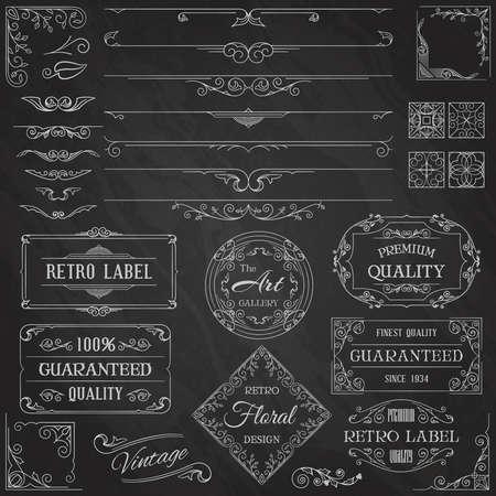 Illustration for Vintage Calligraphic Design Elements - Royalty Free Image