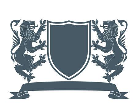 Ilustración de coat of arms lion 2 - Imagen libre de derechos