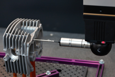 Inspection and quality control on a coordinate measuring machine.