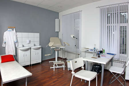 Interior of gynecologist's office in hospital