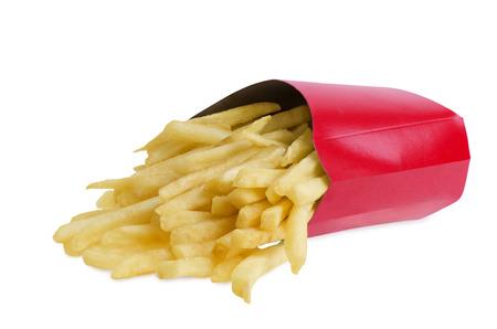 Photo pour French fries in box - image libre de droit