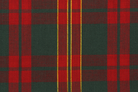 Foto de Close up on classic red and green tartan fabric. Directly above. - Imagen libre de derechos
