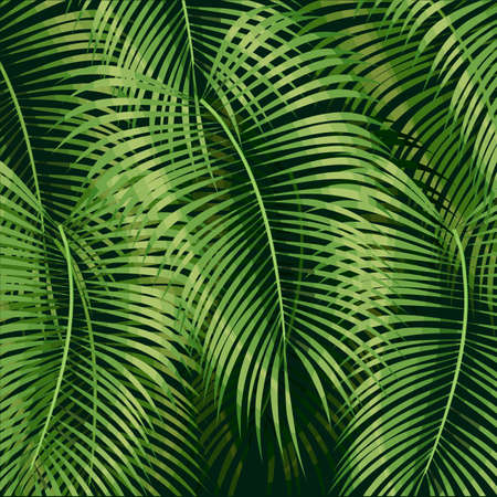 Beautiful floral summer pattern background with tropical palm leaves. Perfect for wallpapers, web page backgrounds, surface textures, textile.