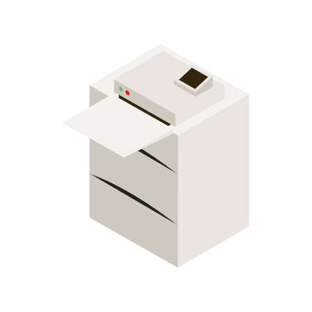 Illustration pour Office laser printer icon isometry isolated on white background - image libre de droit