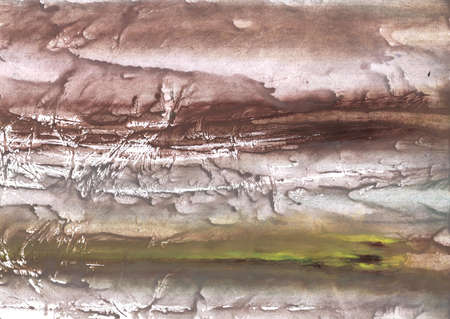 Colored work made on paper. Gray brown marble aquarelle drawing.
