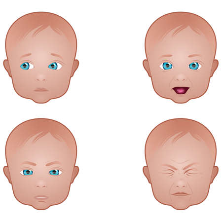 Baby face expressions