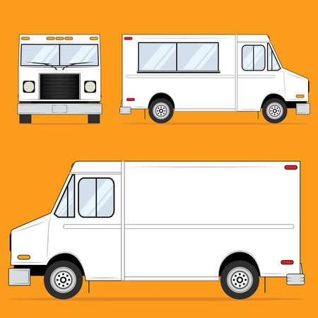 Illustration pour Food Truck Blank - image libre de droit
