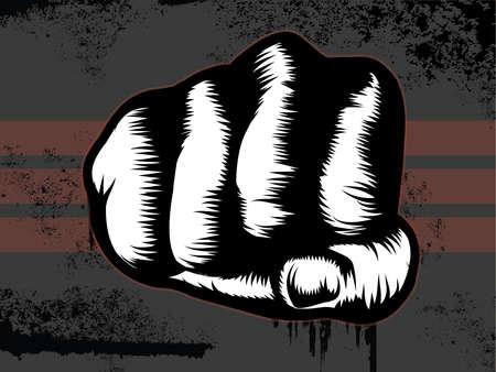 Grunge Fist Punch