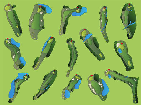 Golf Course Aerial Illustrations