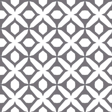 Illustration for Seamless vector pattern in geometric ornamental style - Royalty Free Image