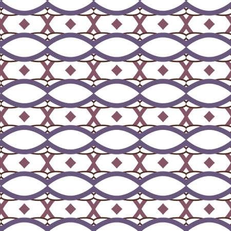 Illustration pour Seamless vector pattern in geometric ornamental style - image libre de droit