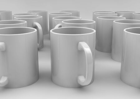 render of a group of cups