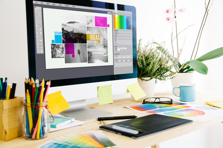 Photo for Graphic design studio - Royalty Free Image
