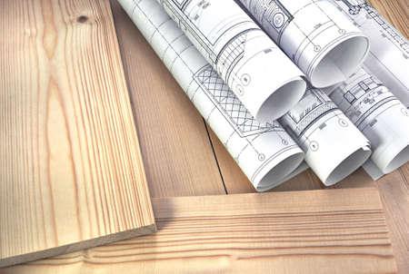 Photo pour Photo boards and wooden boards - image libre de droit