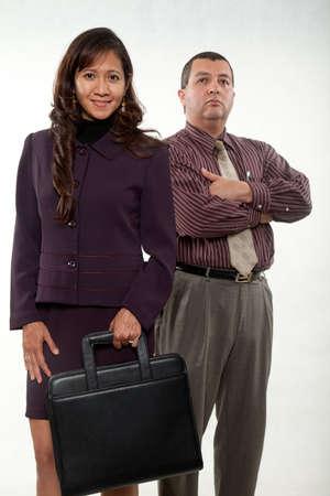 Attractive multi racial nurse doctor business team