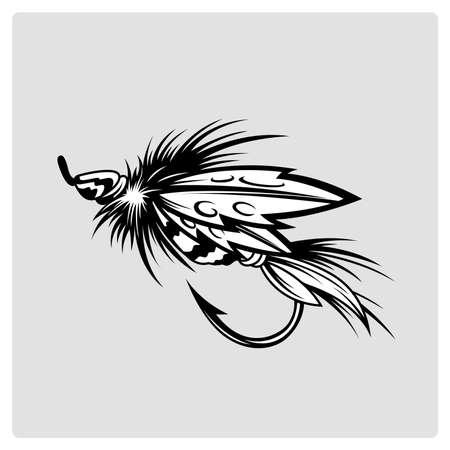 fishing lure. vector illustration
