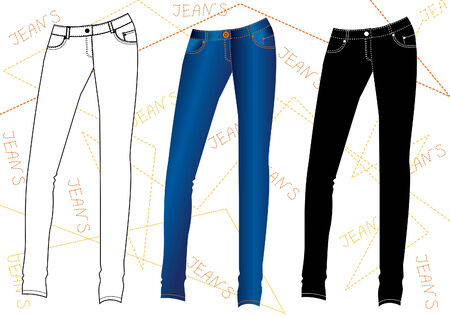 Jeans.Vector fashion design clothes