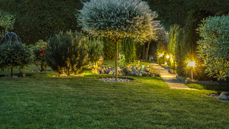 Photo for Lights in garden - Royalty Free Image