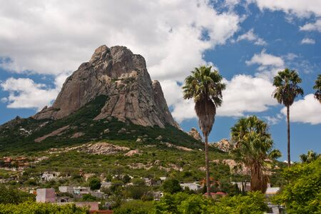 Bernal large rock in Mexico