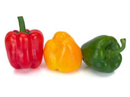 Foto für Assorted bell peppers isolated on a white background - Lizenzfreies Bild