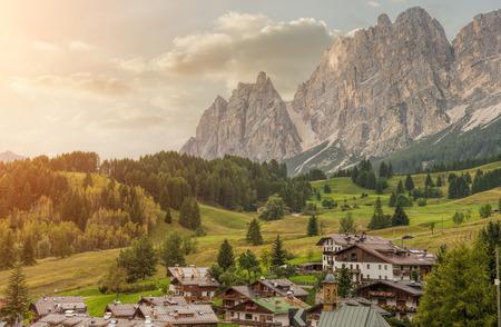Italian small town of Cortina d'Ampezzo